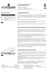 Underfloor Heating, General information E 4.0